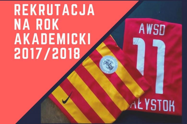 Rekrutacja na rok akademicki 2017/2018